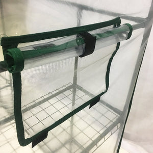"Abba Patio Mini Walk-In Greenhouse 6 Shelves Stands 3 Tiers Racks Portable Garden Green House, 56"" L x 56"" W x 77"" H"