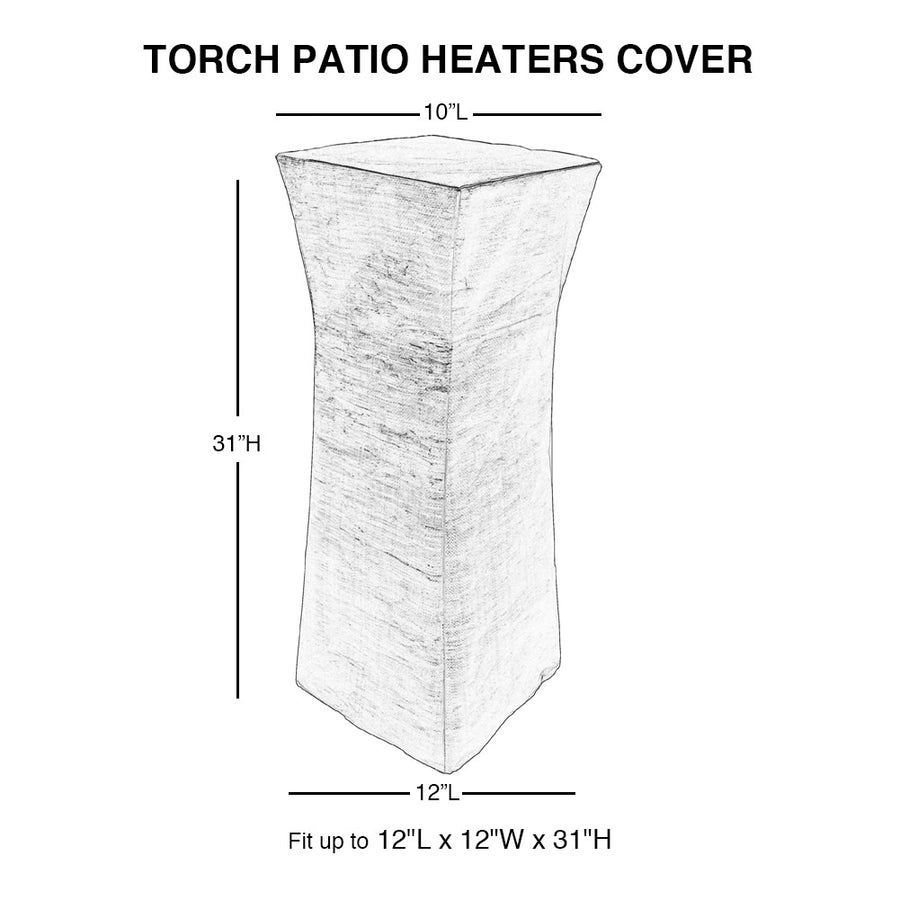 "Cover for Pyramid Torch Patio Heaters, 10"" L x 10"" W x 34"" H"