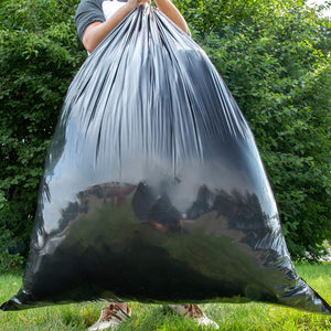 33 Gallon Trash Garbage Bag, Black, Qty: 50 count
