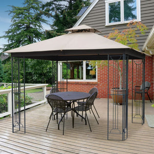 HIO 10 ft. x 10 ft. Steel Patio Gazebo with Soft Top and Corner Shelf