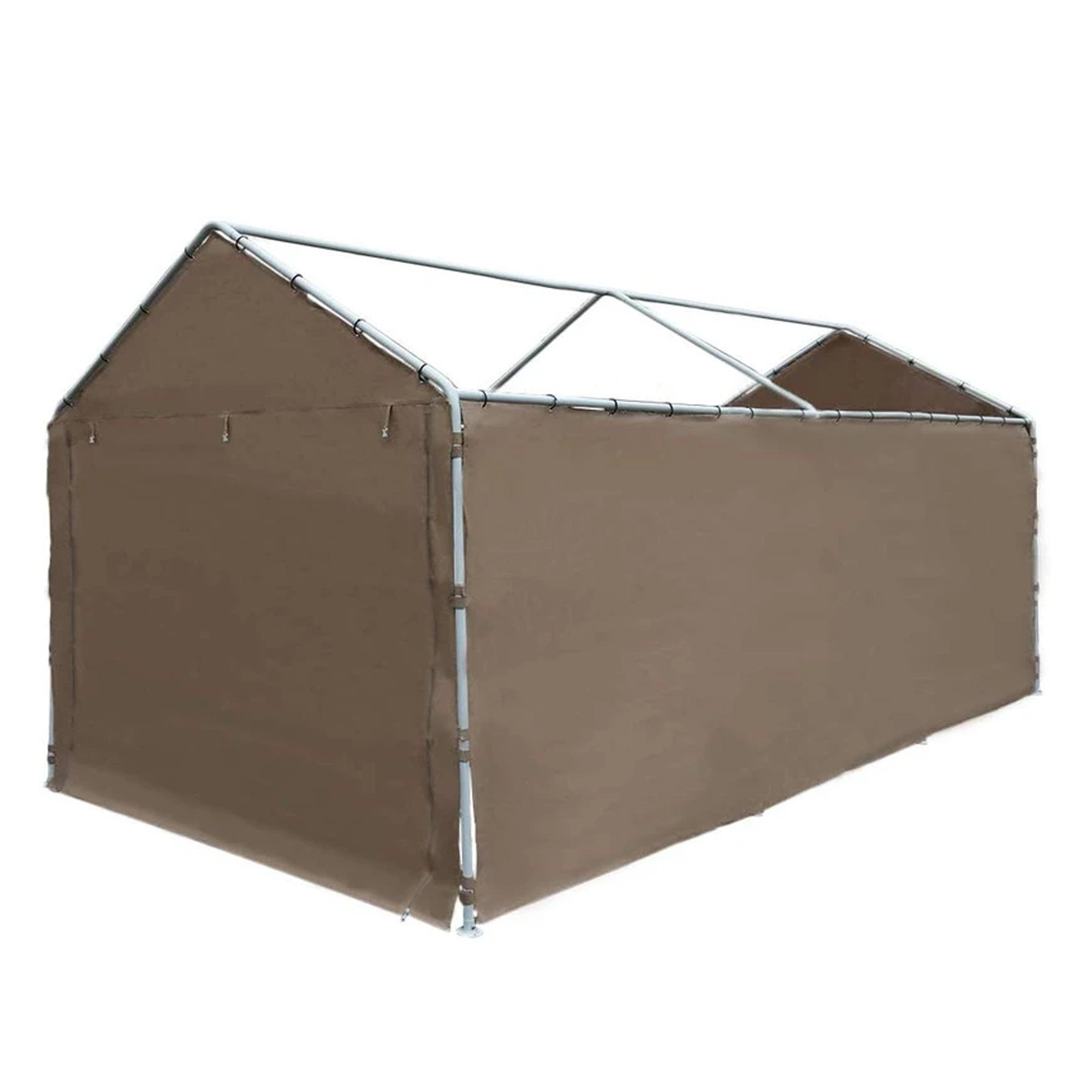 abbapatio.com - Replacement Cover for 10 x 20-Feet 6 Legs Carport Shelter with Rings, (Frame & Top Cover Not Included) 99.99 USD