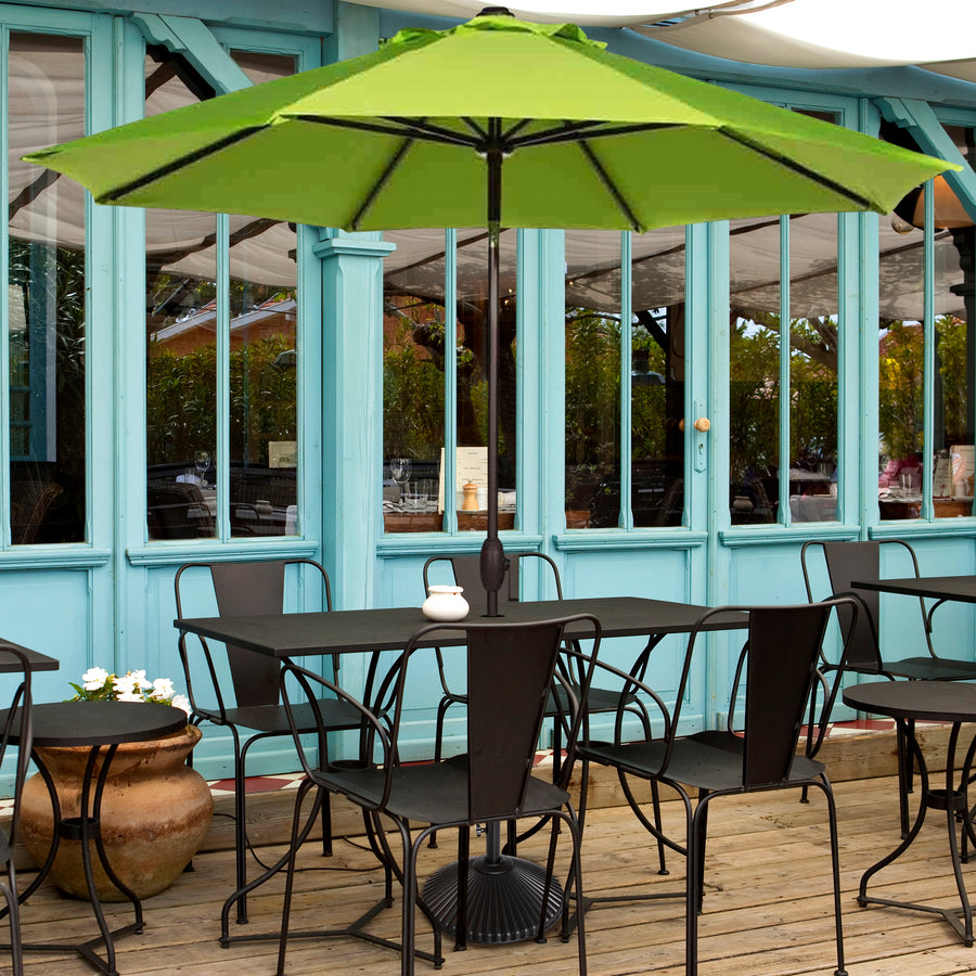 Sunbrella 9 Feet Patio Market Table Umbrella with Push Button Tilt and Crank