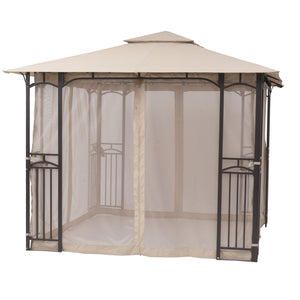 Sorara 10 x 10 Feet Gazebo Soft Top Cabana Fully Enclosed Garden Canopy with Mosquito Netting
