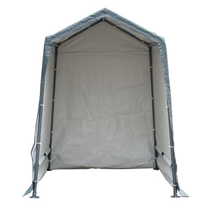 Replacement Top Cover for 6 x 8- Feet Outdoor Storage Shelter, Grey (Door Panel and Frame not Include)