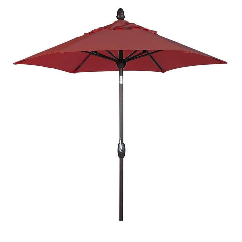Abba Patio 7.5 Feet Market Umbrella with Push Button Tilt & Crank (Cover Included)