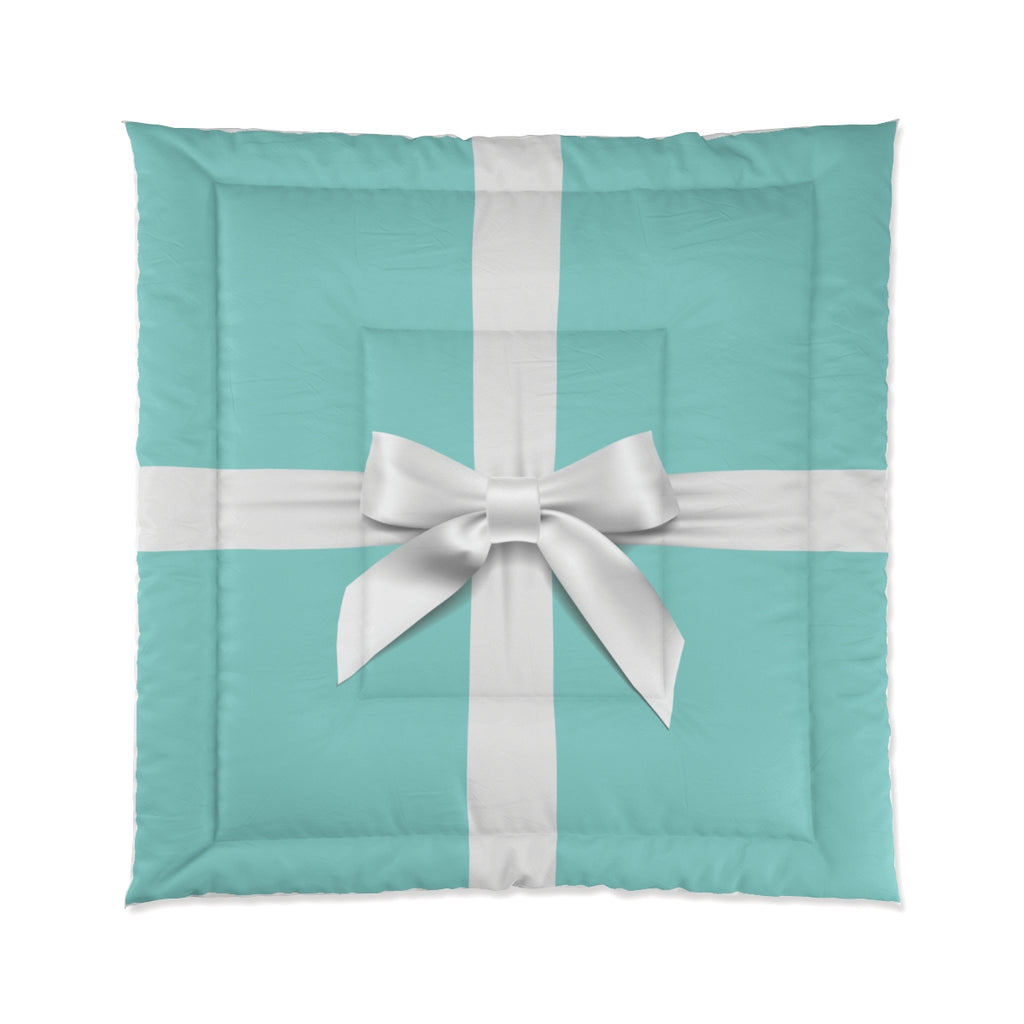 IN STOCK SAMPLE Tiffany Blue Box Inspired - Queen Comforter