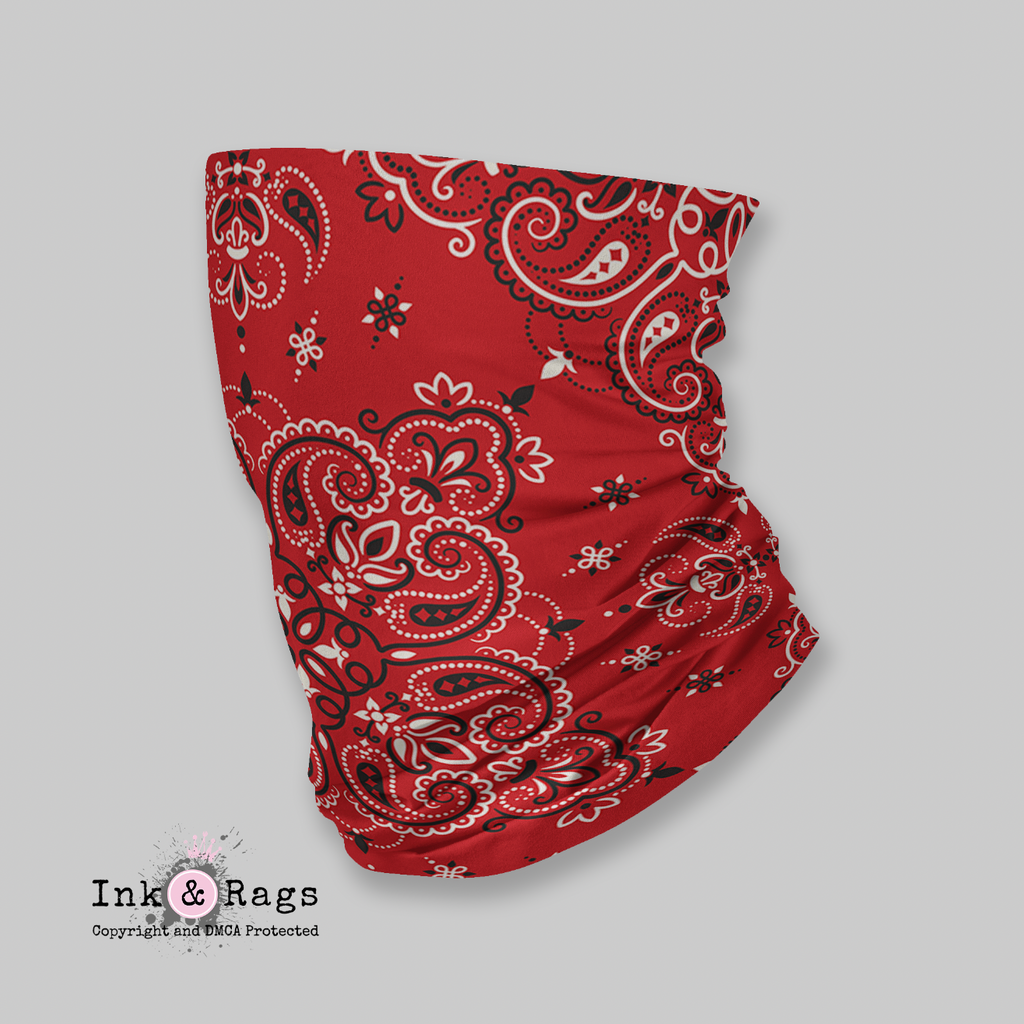 ADULT Wind and Sneeze Guard Raw - READ FULL DESCRIPTION - Red Bandana
