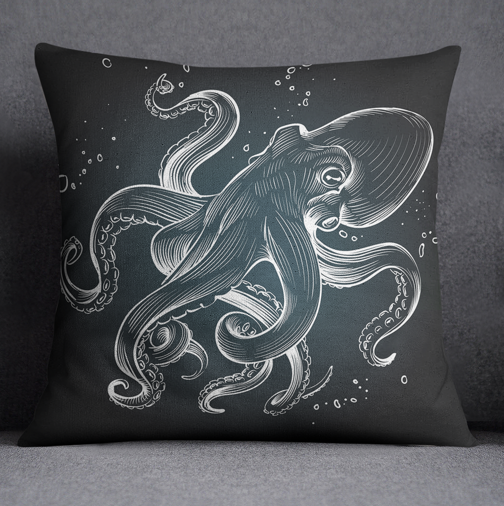 Octo Bubbles Octopus Decorative Throw and Pillow Cover Set