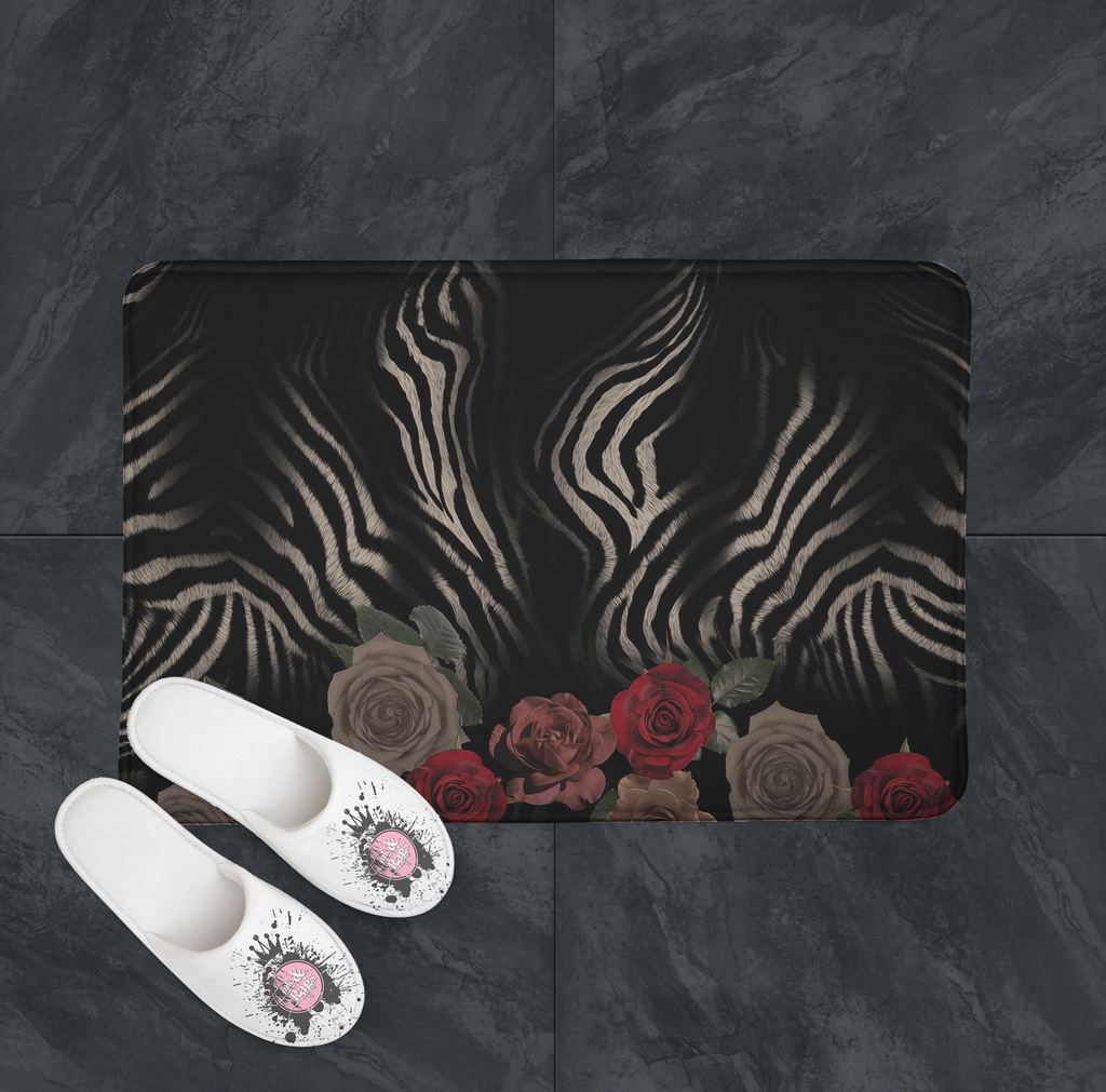 IN STOCK SAMPLE Zebra Rose - 15 x 20 Mat