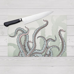 Watercolor Octopus Tentacle Cutting Boards