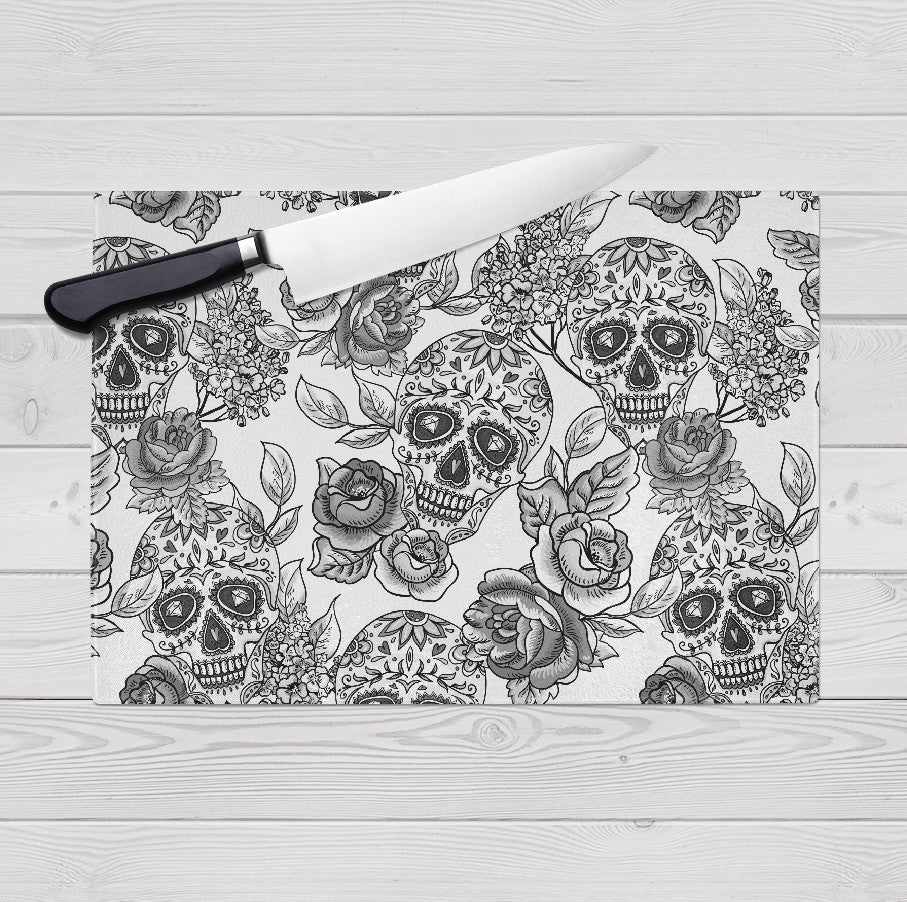 The Original White Sugar Skull Cutting Boards