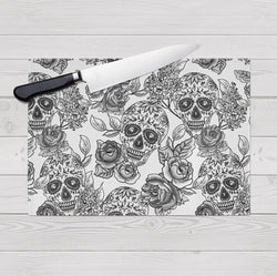 Signature White Sugar Skull Cutting Boards