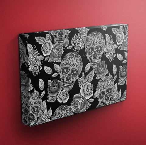 Ink & Rags Signature Sugar Skull Gallery Wrapped Canvas