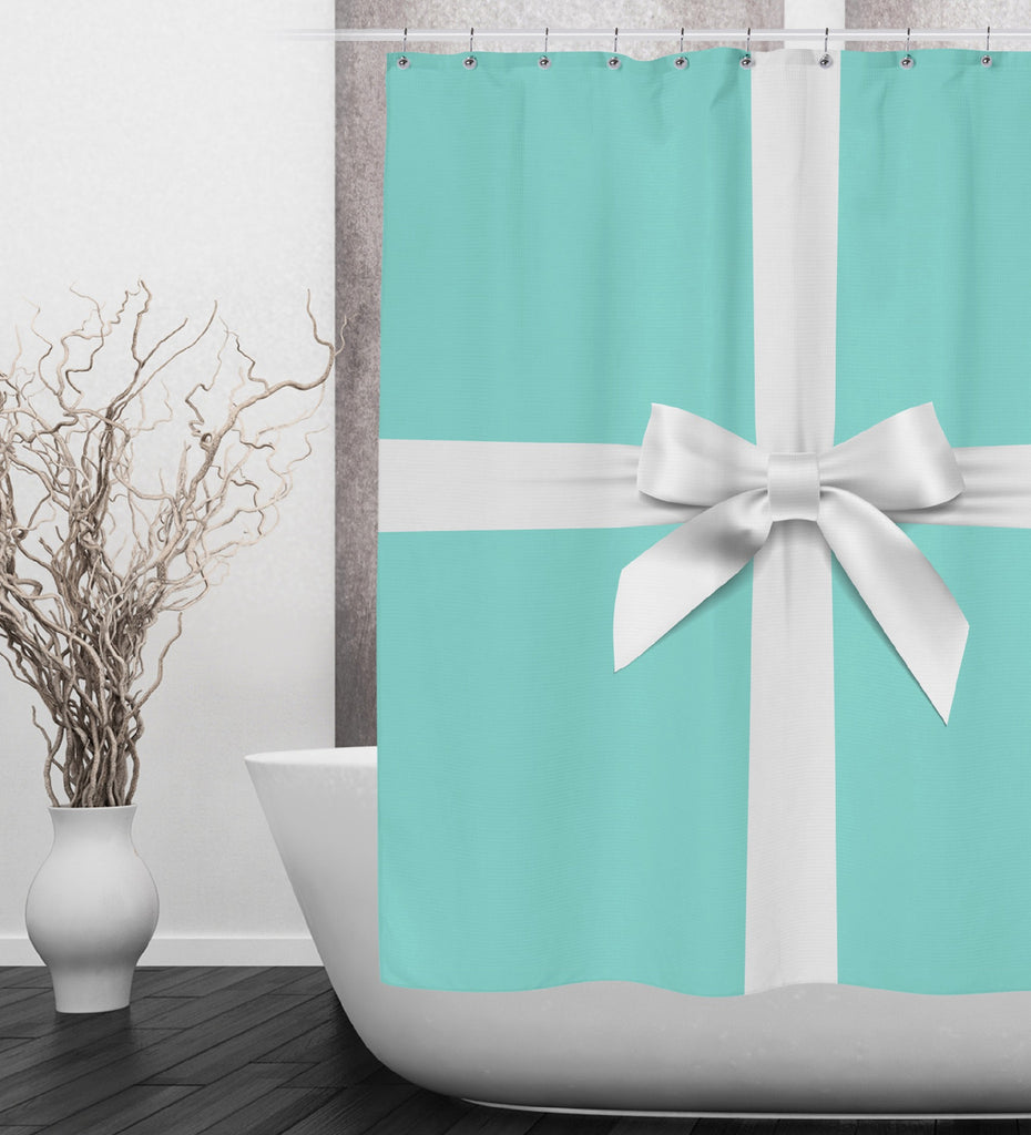 Name & Co Personalized Fashion Shower Curtains and Optional Bath Mats