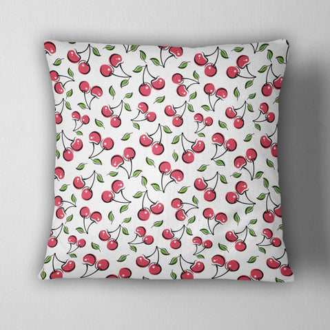 Rockabilly Cherries Decorative Throw Pillow