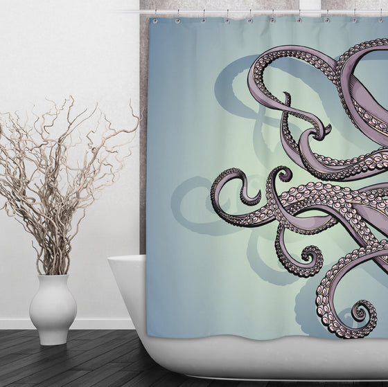 Purple & Teal Octopus Shower Curtain