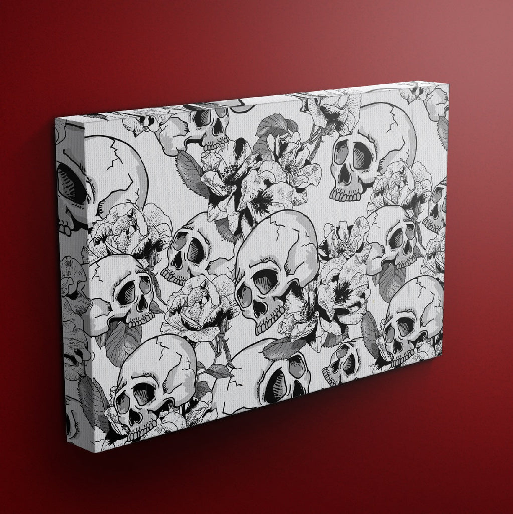 Black and White Sexy Skull Gallery Wrapped Canvas