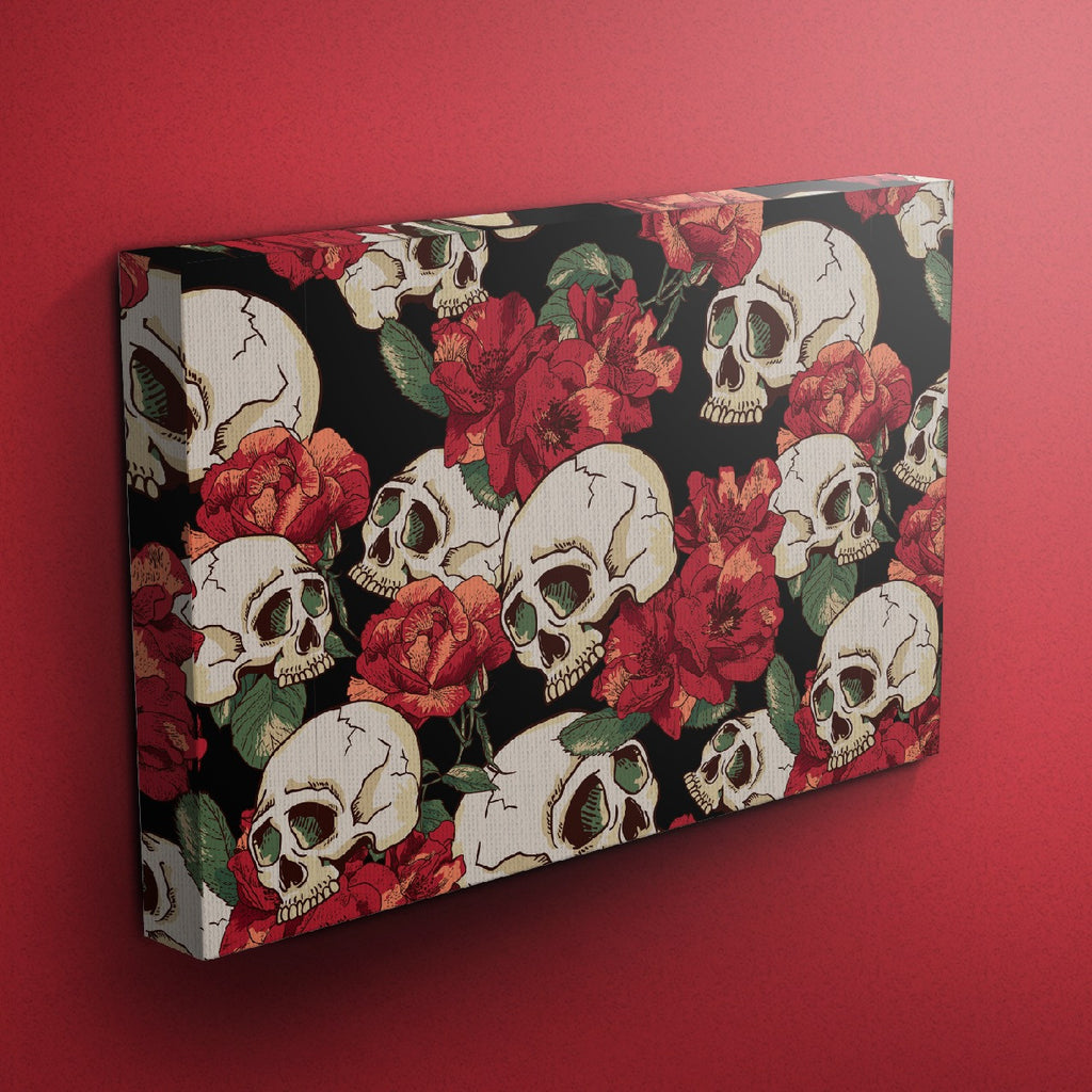Sexy Red Skull Gallery Wrapped Canvas