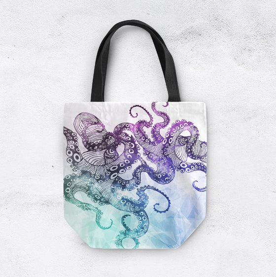 Modern Watercolor Octopus Casual Tote