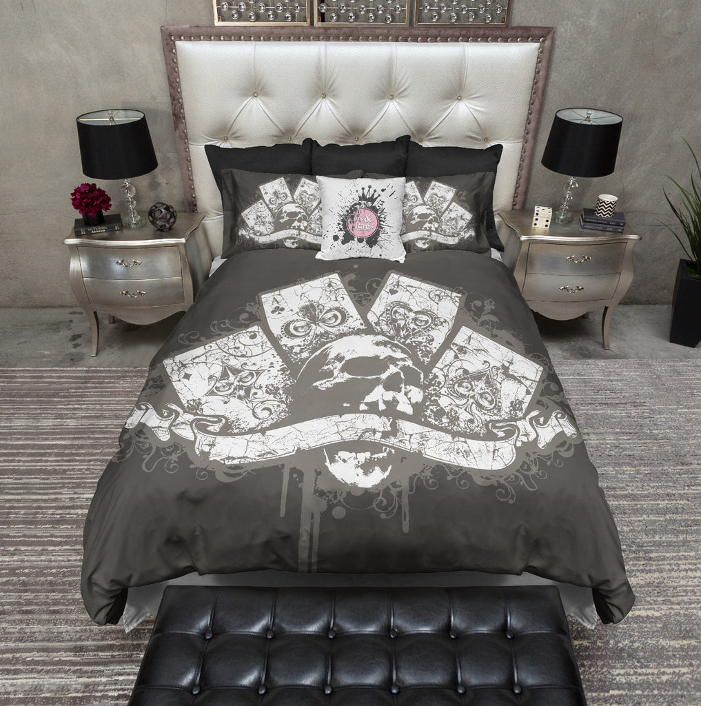 Skull and Aces Poker Bedding Collection