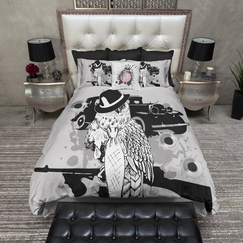 Gangster Owl Bedding