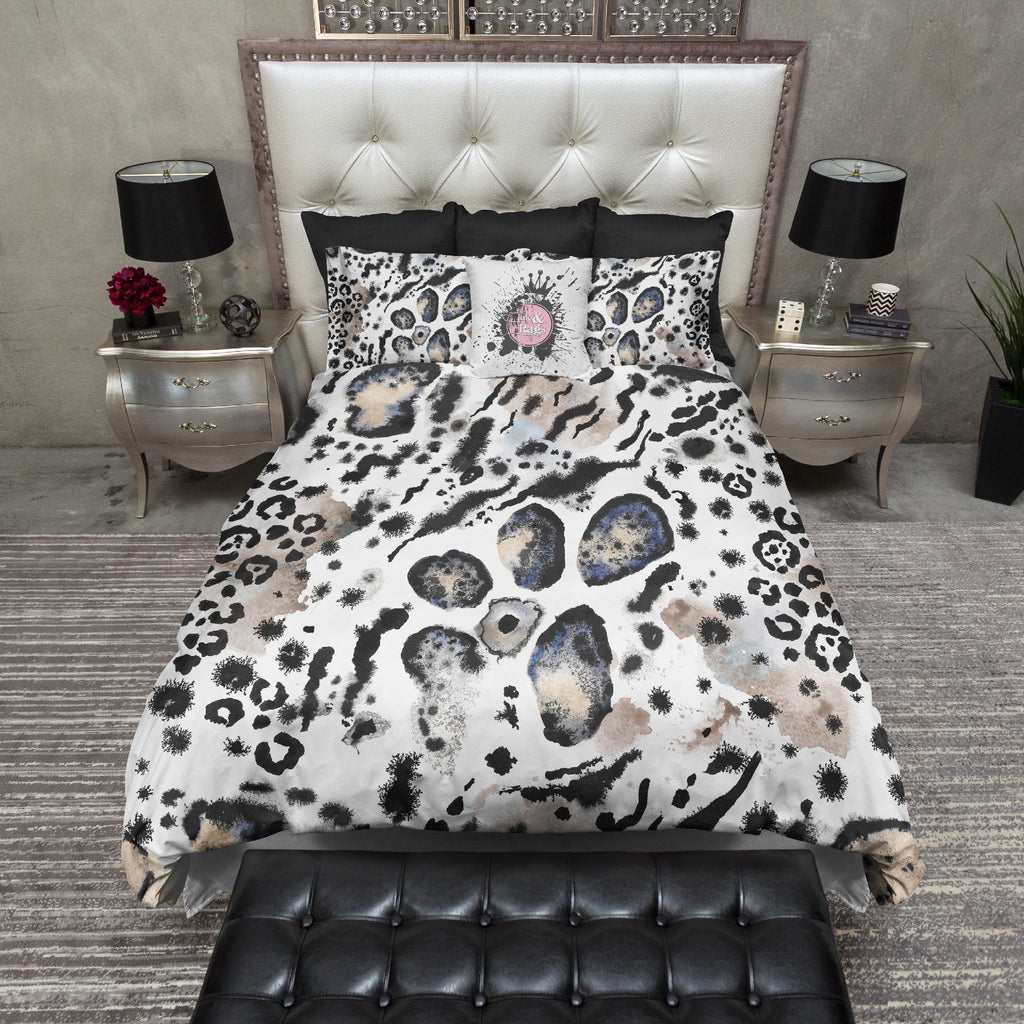 Watercolor Animal Print Bedding