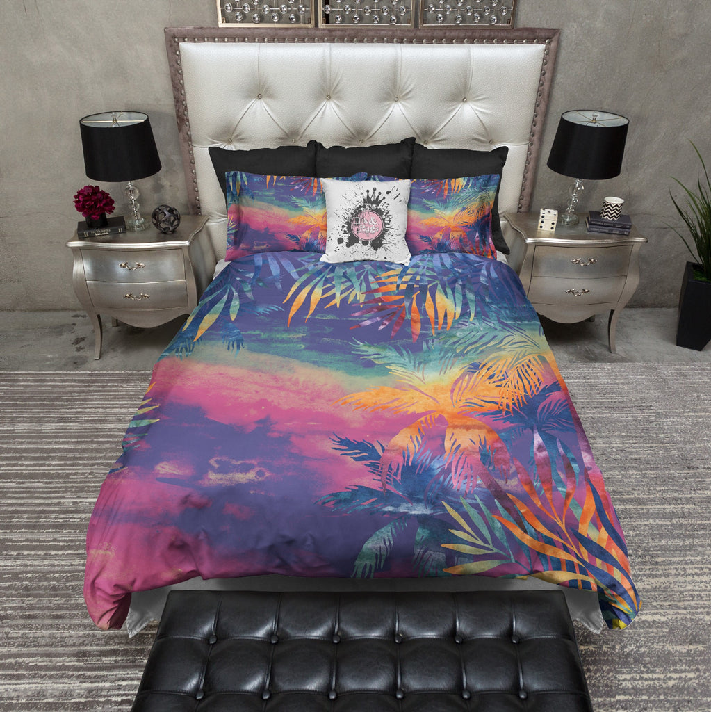 Abstract Tropical Sunset Duvet Bedding Sets