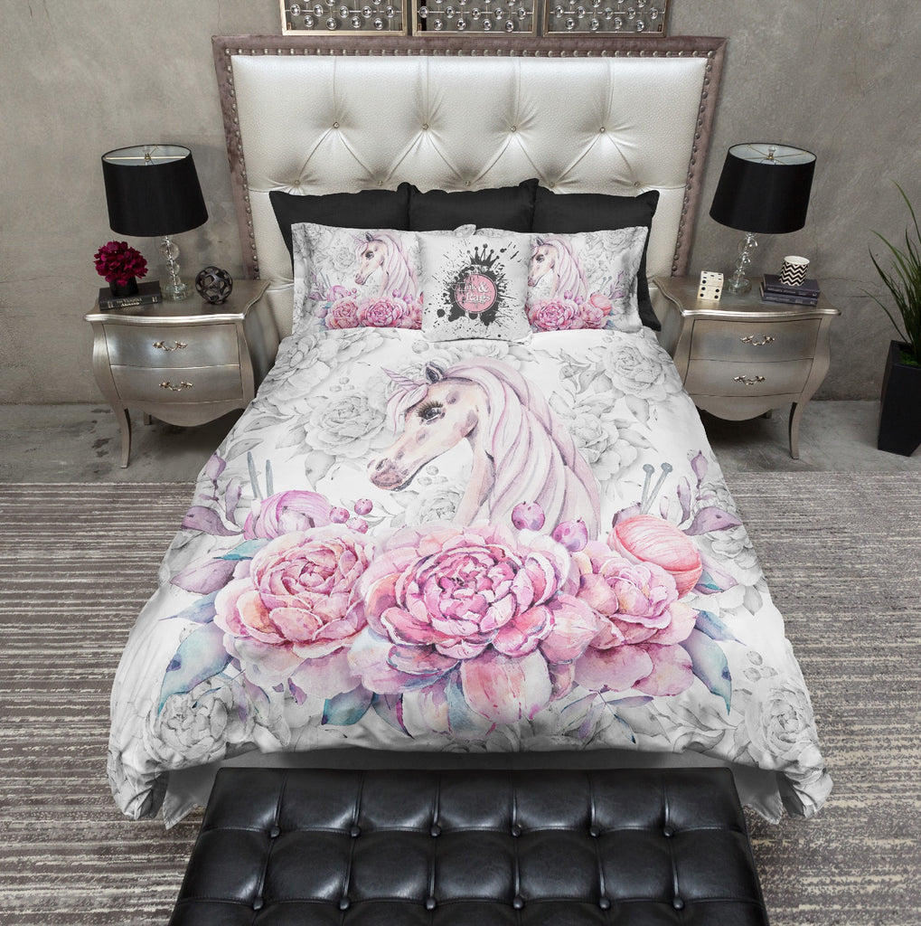 Sweetheart Unicorn Rose Bedding