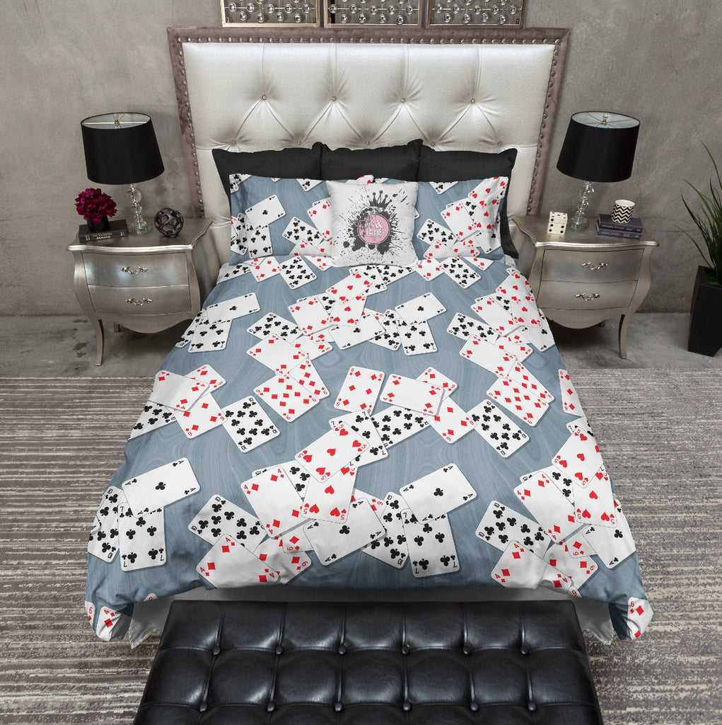 Playing Cards Poker Gambling Theme Bedding Collection
