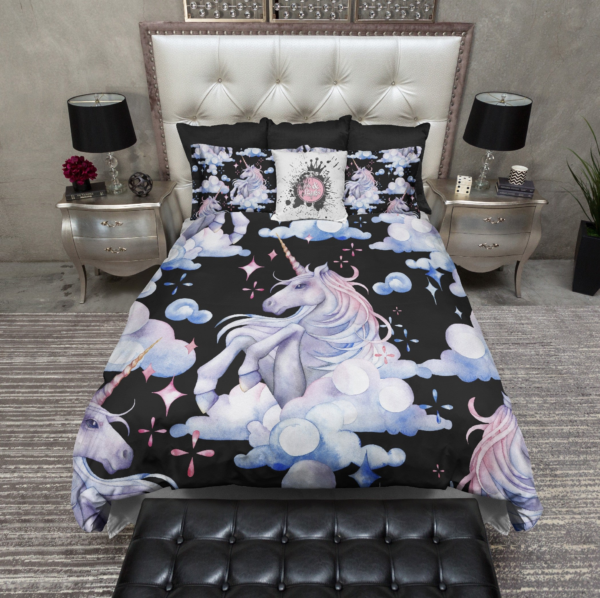 screen sweetheart at ink and unicorn sets bed shot duvet rose rags products am bedding