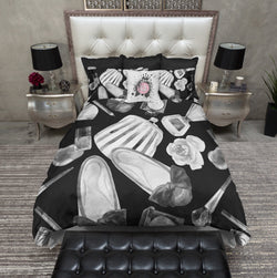 Black and White Watercolor Fashion Bedding