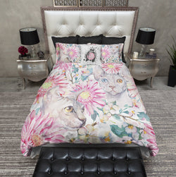 Watercolor Sakura Sphynx Cat Bedding
