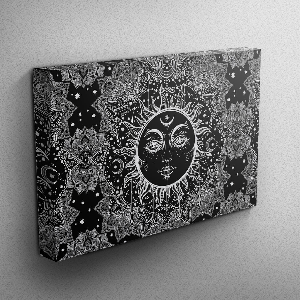 Bohemian Sun Mandala Gallery Wrapped Canvas