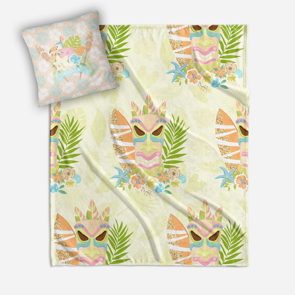 ALOHA Baby Hawaiian Tikki Crib and Toddler Bedding