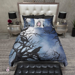 Ravens in the Moonlight Bedding