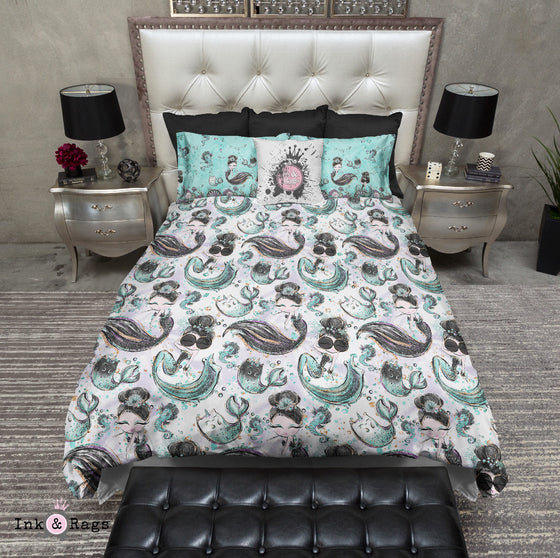 Boho Black And Teal Feather Bedding Ink And Rags