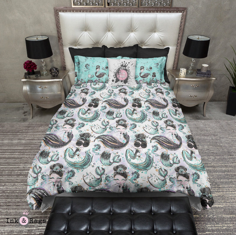 Audrey Breakfast At Tiffany Mermaid Mermicorn Fashion Bedding