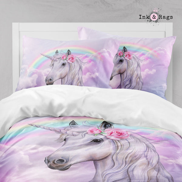 Rainbows and Roses Unicorn Big Kids Bedding