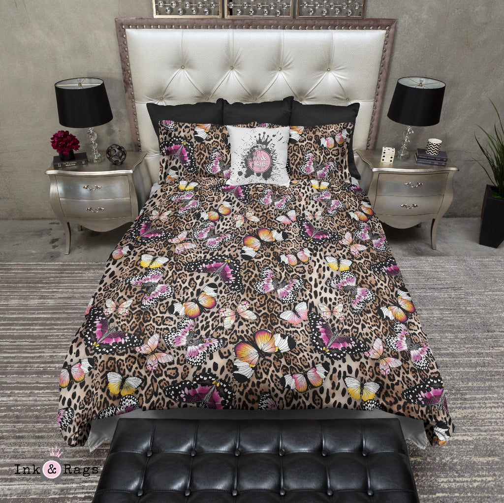 Leopard and Butterfly Bedding Collection