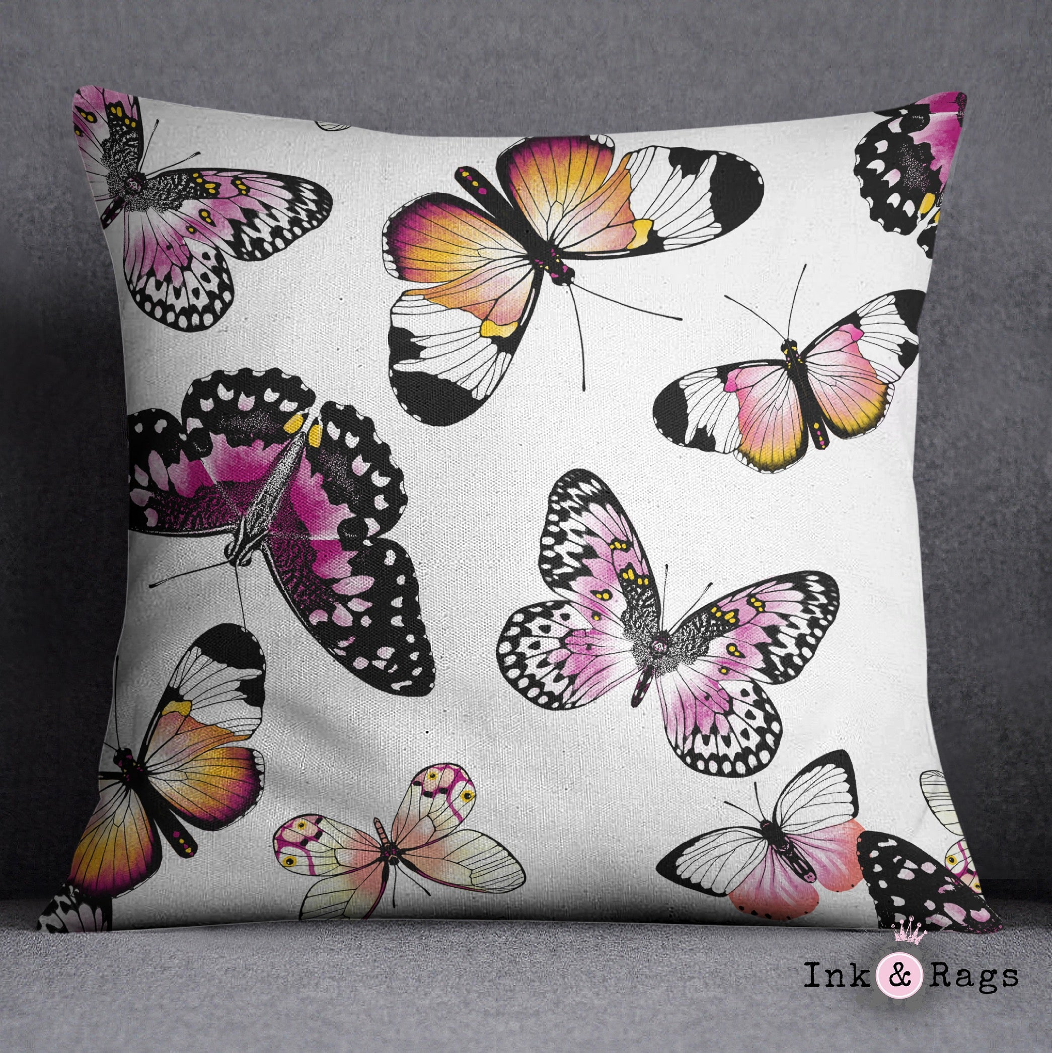Butterfly Throw Pillow Ink And Rags