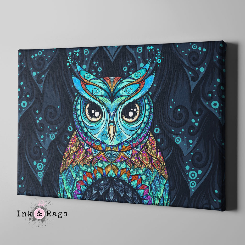 Gypsy Owl Gallery Wrapped Canvas
