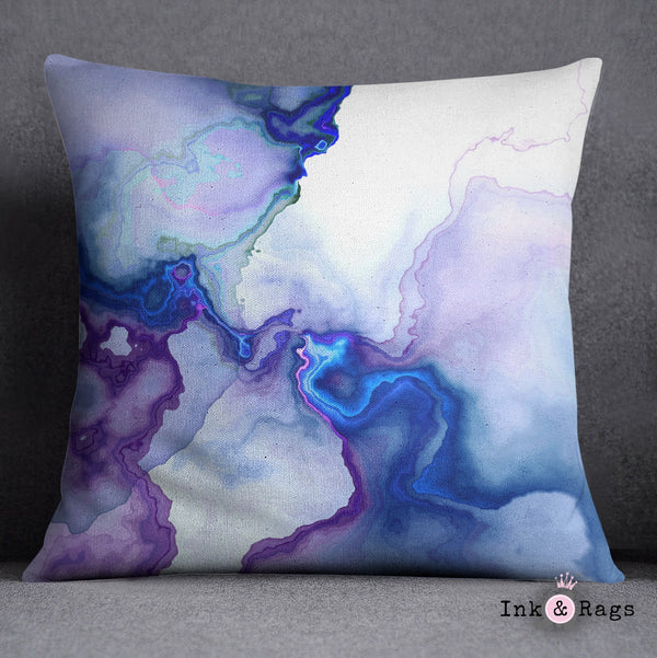Electric Marble Decorative Throw and Pillow Cover Set