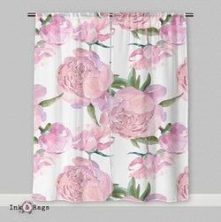 Pink Peony Curtains