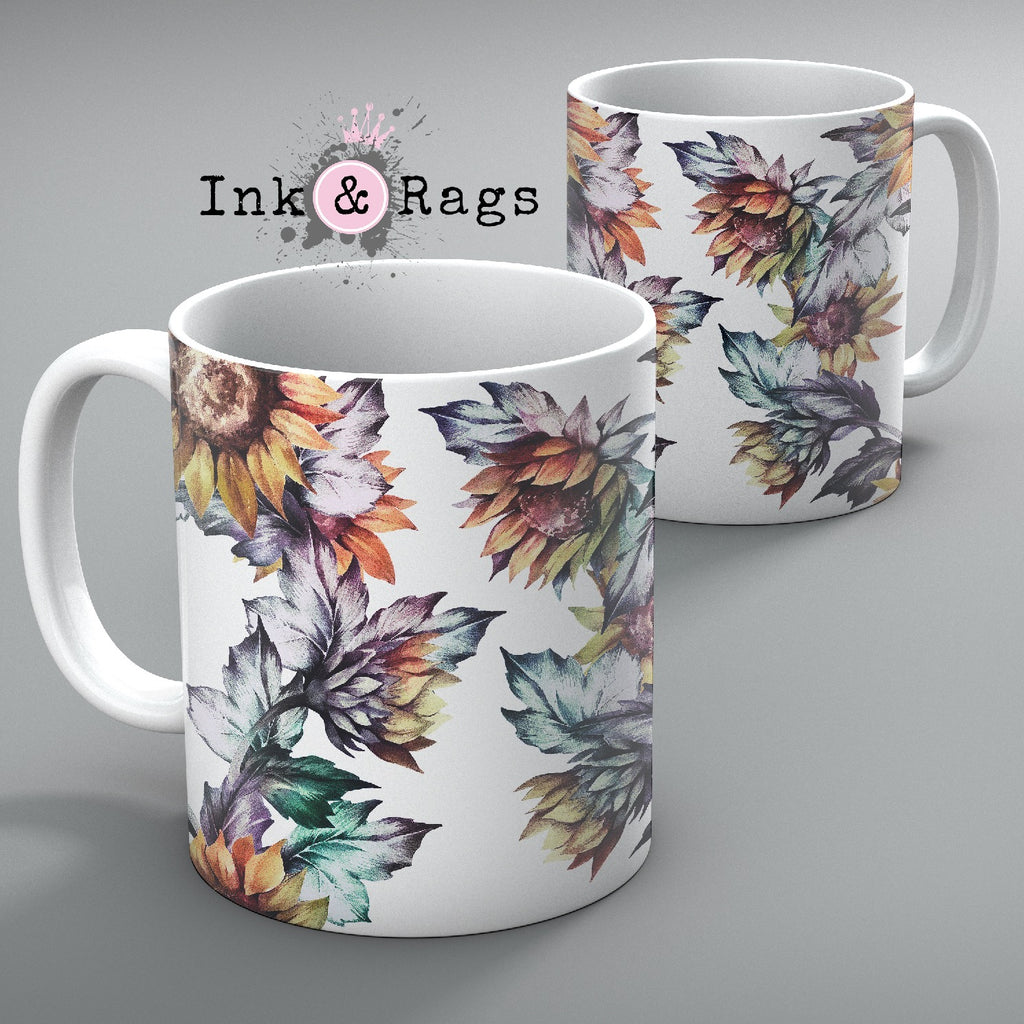 Sunset Sunflower Mug Set of 2
