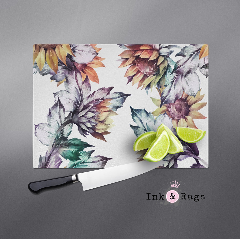 Sunset Sunflower Cutting Boards