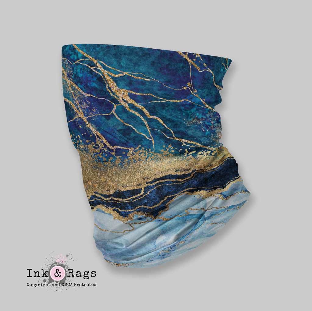 ADULT Wind and Sneeze Guard Raw - READ FULL DESCRIPTION - Blue Gold Marble