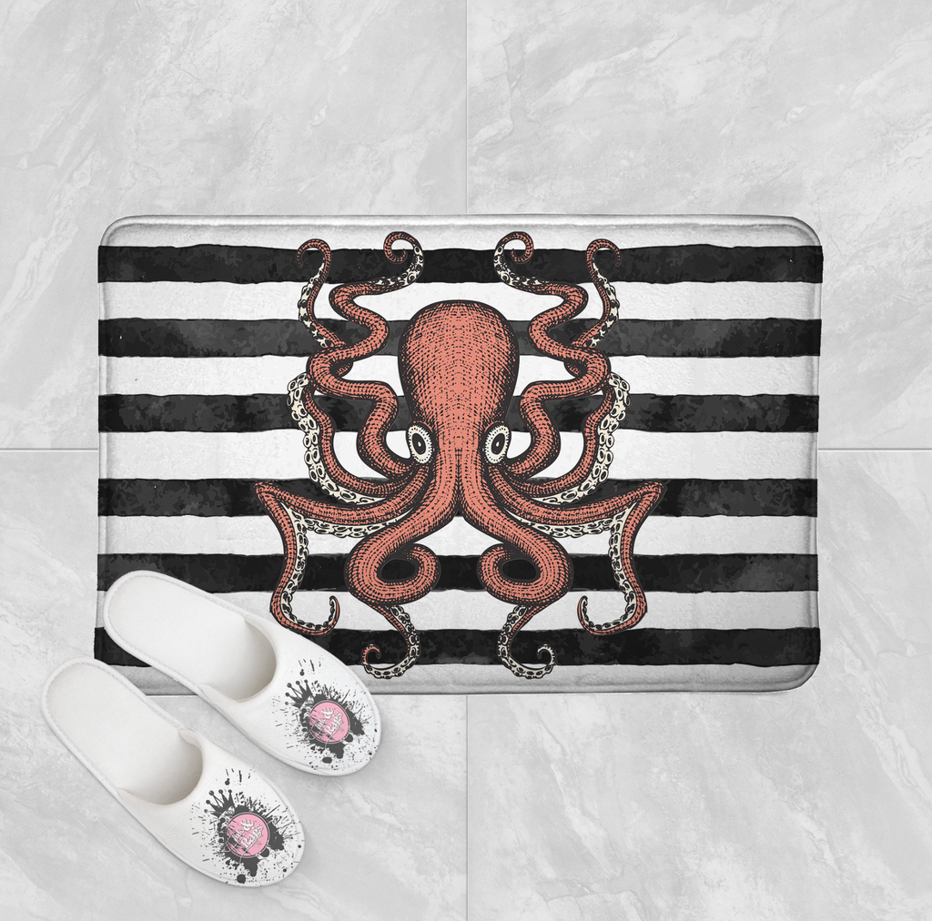 Octopus Shower Curtains and Optional Bath Mats