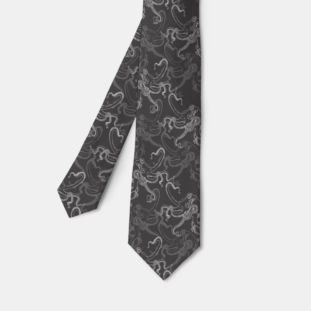 Black Octopus Necktie