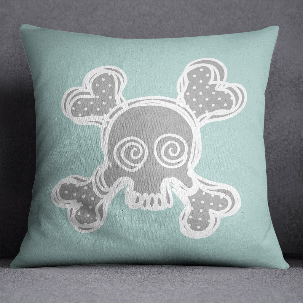 Skull and Crossbone Nursery Throw Pillow