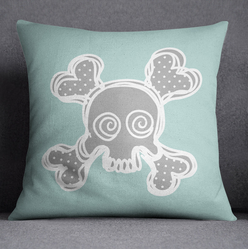 Skull and Crossbone Nursery Pillow Cover